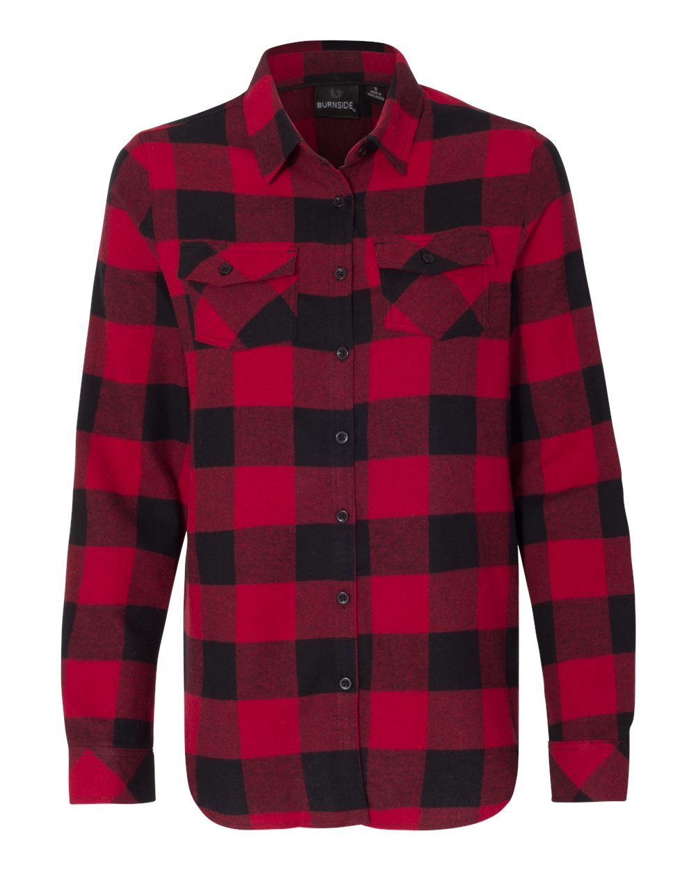 Picture of Burnside Women Yarn-Dyed Long Sleeve Flannel Shirt