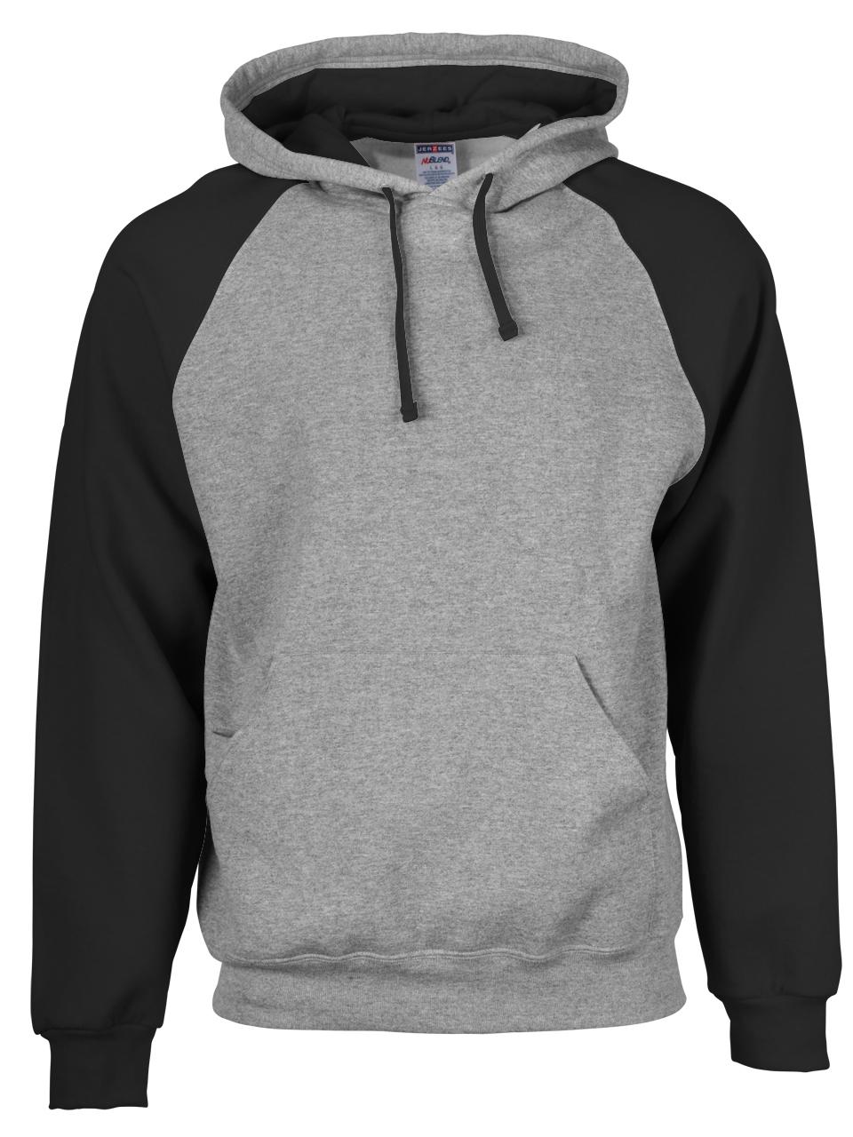 Picture of Jerzees Nublend Colour-Block Raglan Hooded Sweatshirt