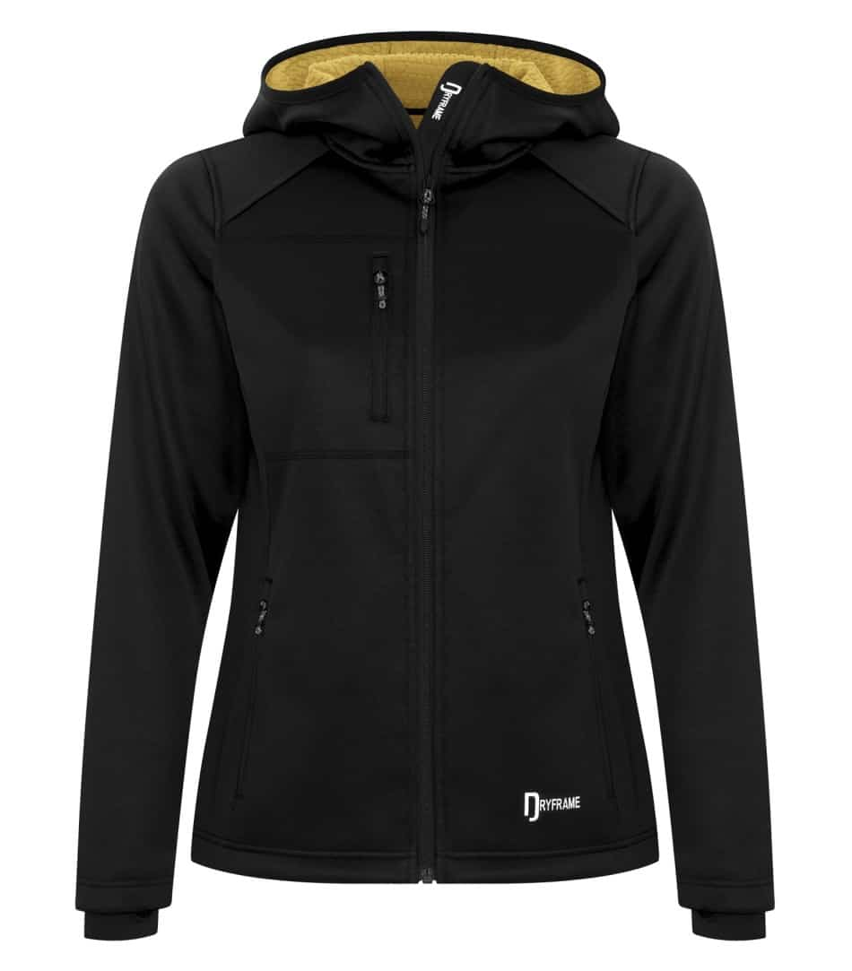 Picture of Dryframe Bonded Fleece Full-Zip Hooded Ladies Jacket