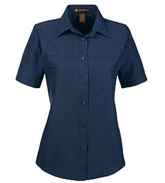 Picture of Harriton Ladies' Key West Short Sleeve Performance Staff Shirt