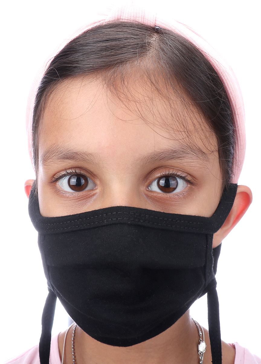 Picture of Youth Adjustable 2-Ply 100% Organic Cotton Pleated Mask