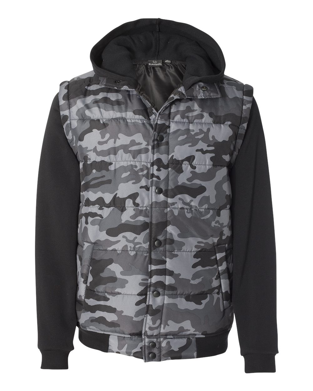 Picture of Burnside Nylon Vest with Fleece Sleeves