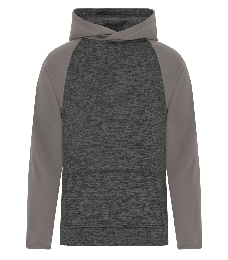 Picture of ATC Dynamic Heather Fleece Two-Tone Hooded Youth Sweatshirt