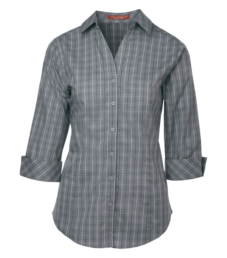 Picture of Coal Harbour Tattersall Check Woven Ladies' Shirt