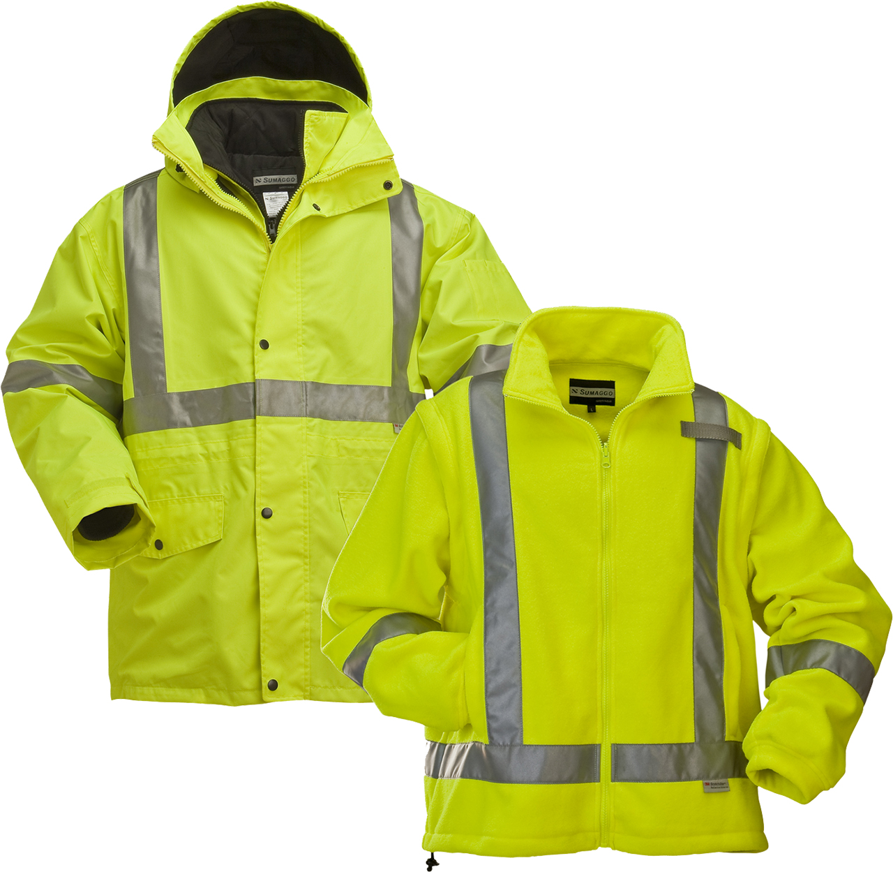 Picture of Sumaggo High Visibility 4-In-1 Jacket With Fleece Inner Jacket
