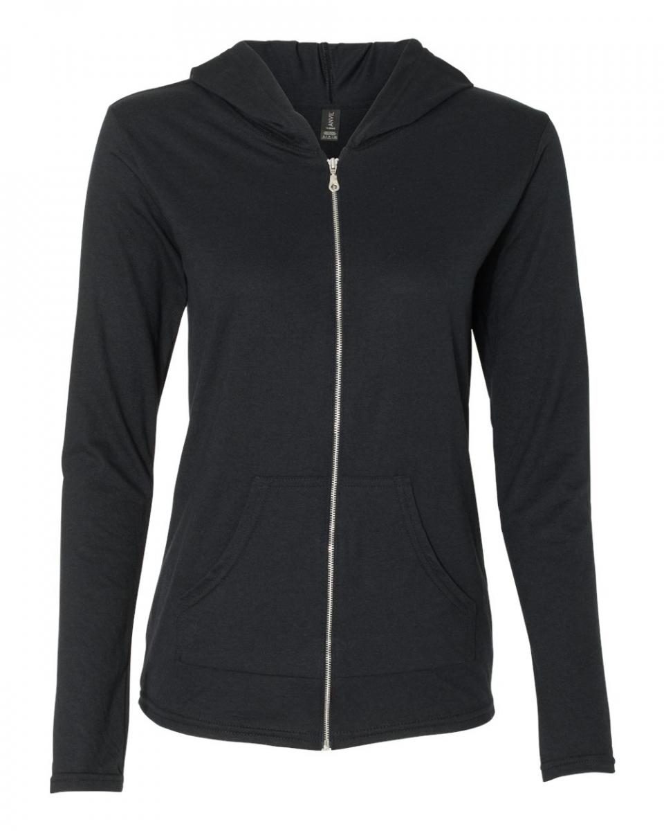 Picture of Anvil Triblend Full Zip Hooded Ladies' Sweatshirt