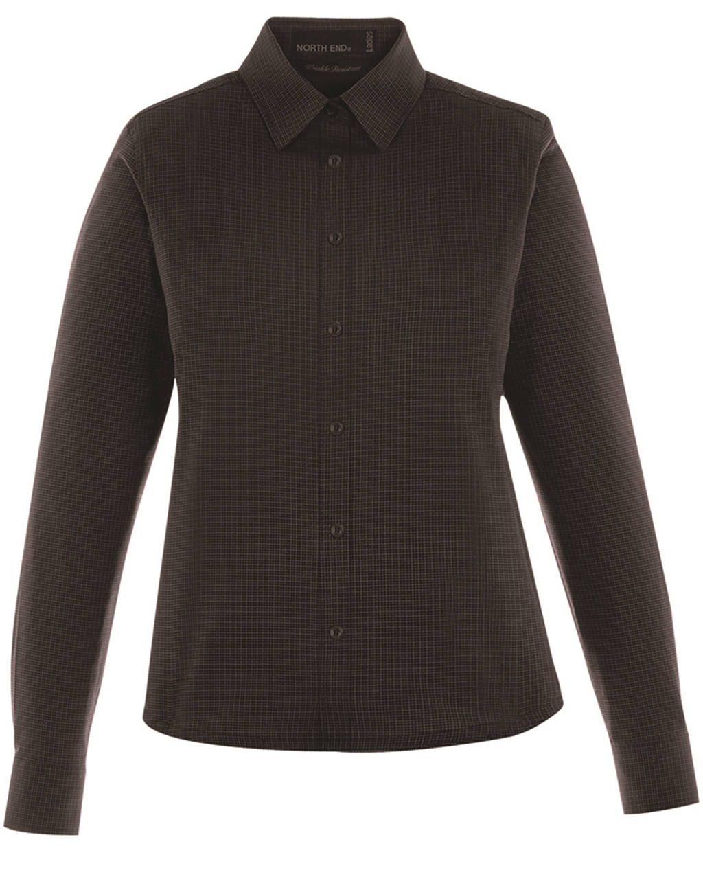 Picture of North End Ladies Paramount Wrinkle-Resistant Checkered Shirt