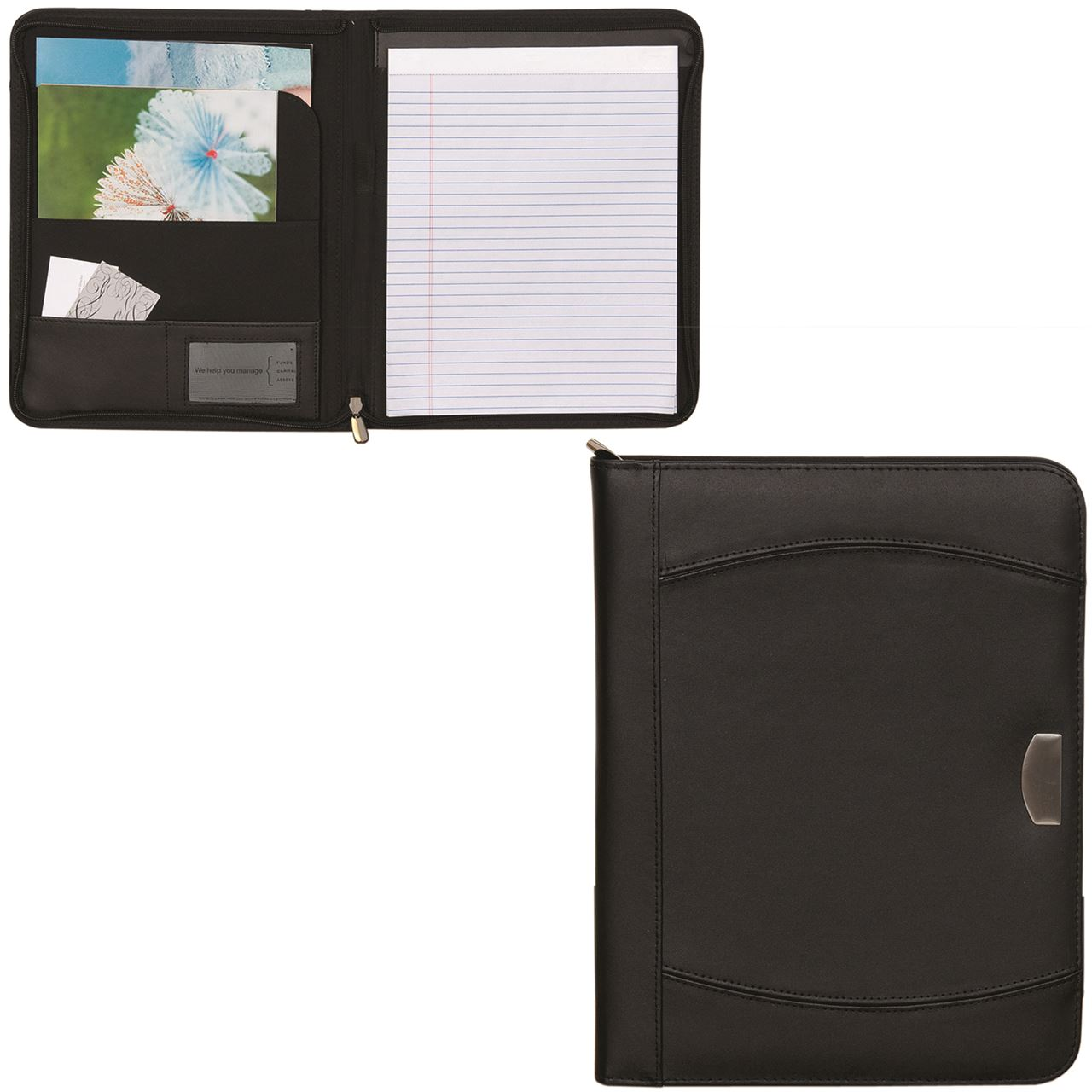 Picture of Zippered Notebook Portfolio