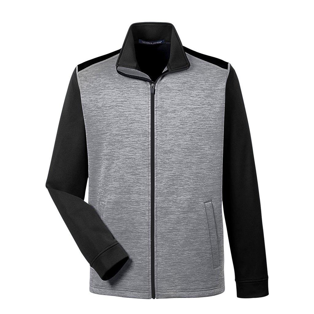 Picture of Devon & Jones Men's Colorblock Fleece Full-Zip