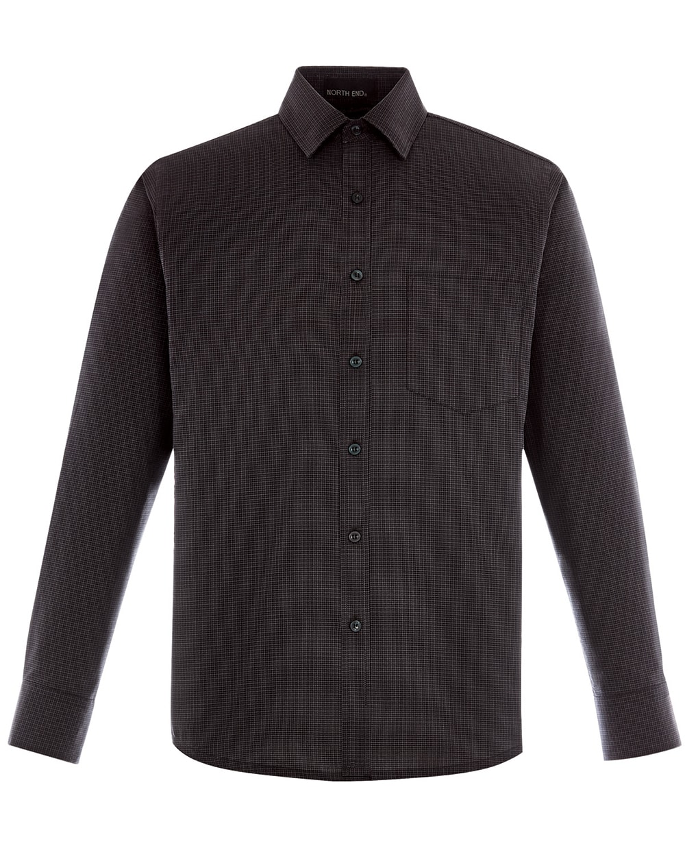 Picture of North End Men's Paramount Wrinkle-Resistant Twill Checkered Shirt