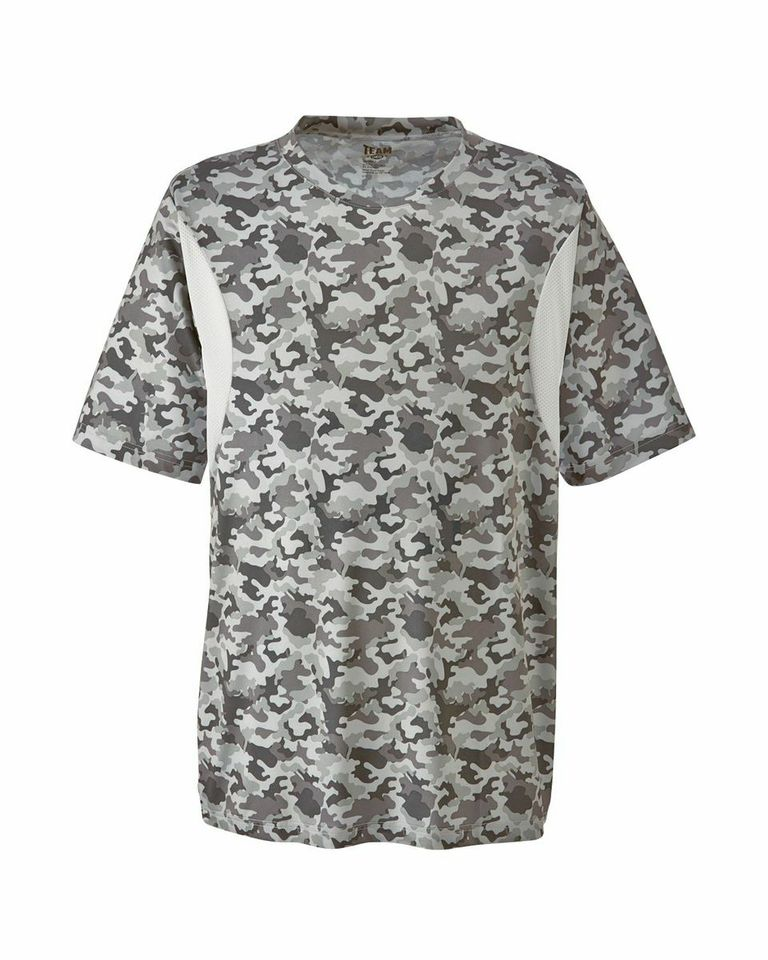 Picture of Team 365 Men's Short Sleeve Athletic V-Neck All Sport Camo