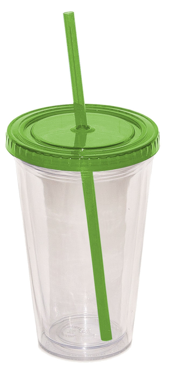 Picture of Double Walled Tumbler With Straw