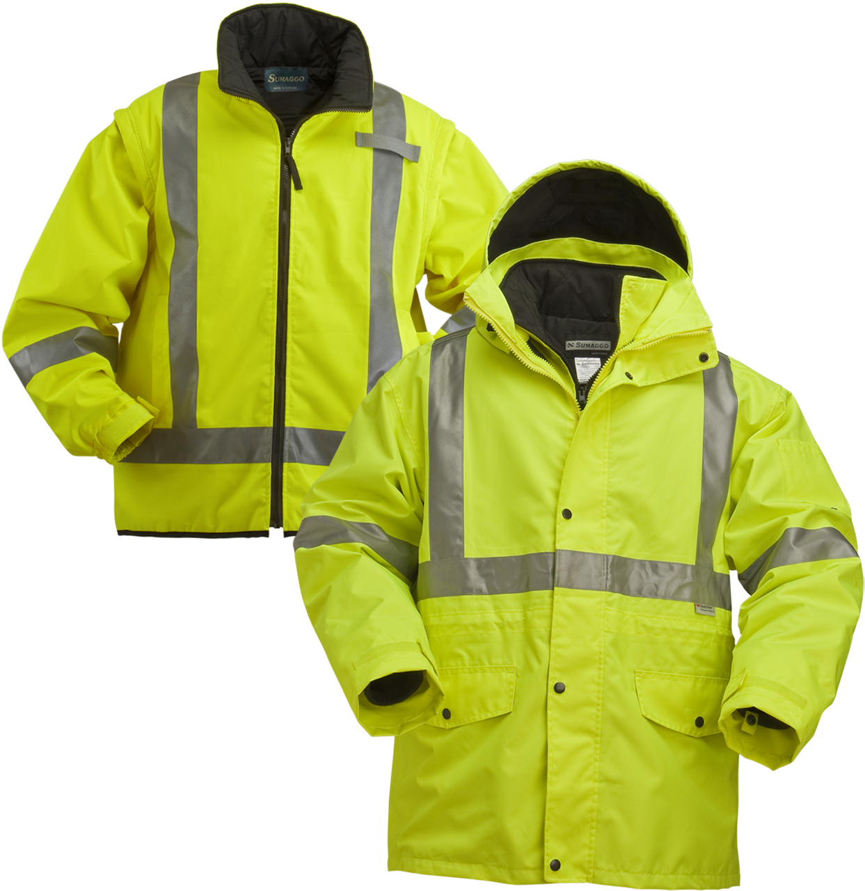 Picture of Sumaggo High Vis 4-In-1 Jacket with Thinsulate Quilted Inner Jacket