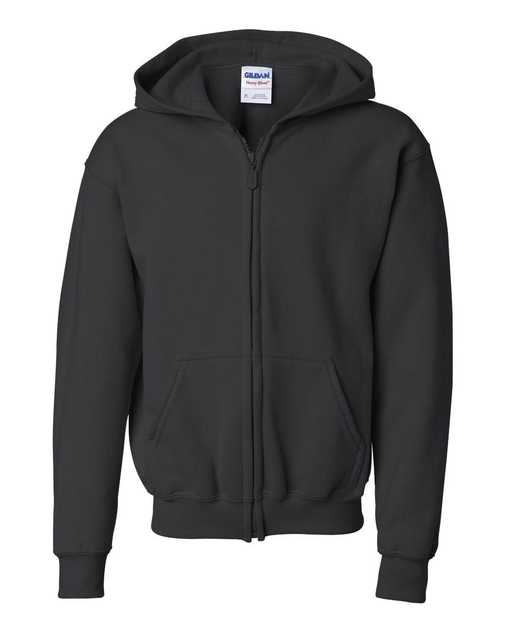Picture of Gildan Youth Full Zip Hooded Sweatshirt