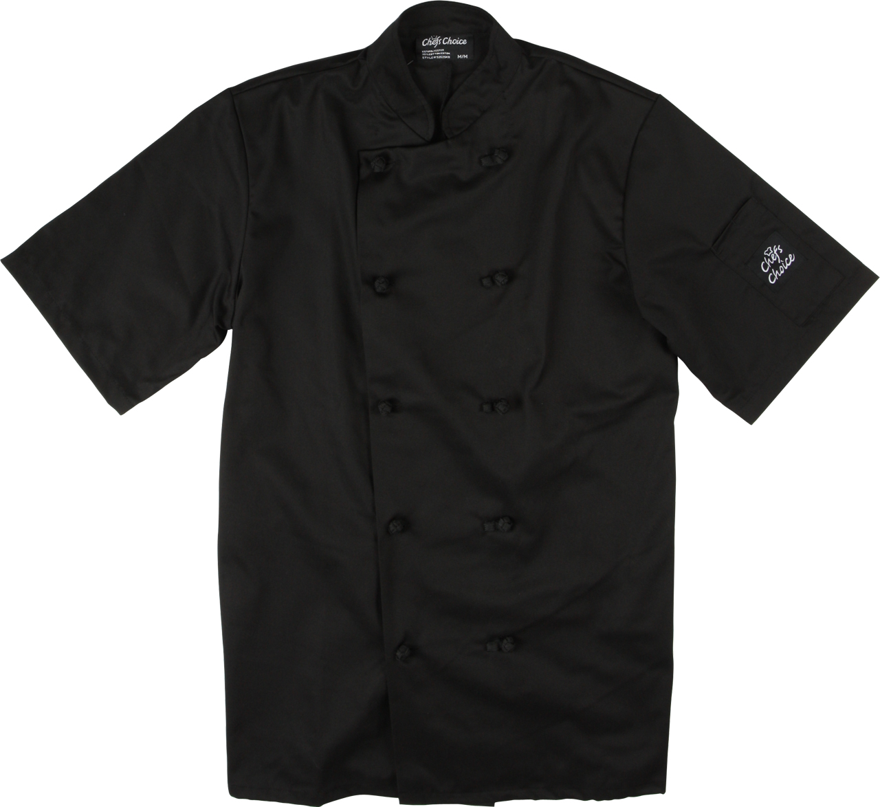 Picture of Premium Uniforms Short Sleeve Knot Button Coloured Chef Coat