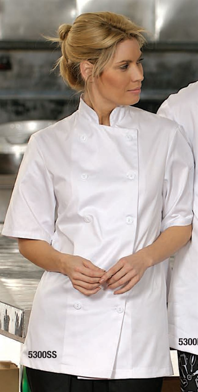 Picture of Premium Uniforms Short Sleeve With Knot Buttons Econo Chef Coat