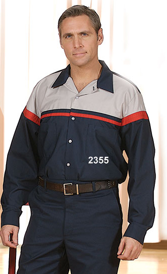Picture of Premium Uniforms Long Sleeve Work Shirt Two-Toned