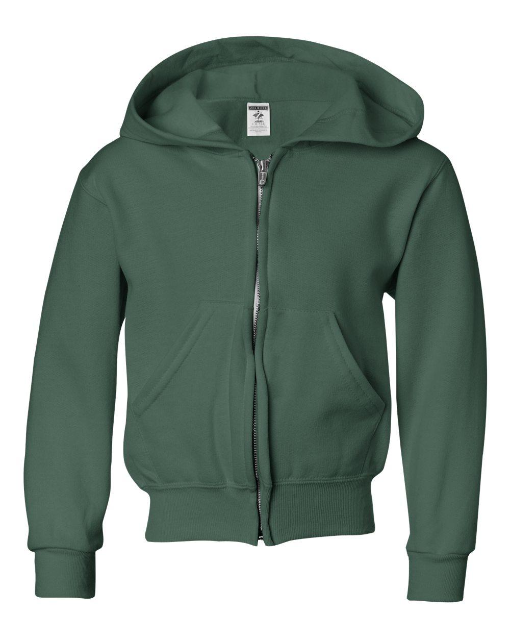 Picture of Jerzees Nublend Youth Full-Zip Hooded Sweatshirt
