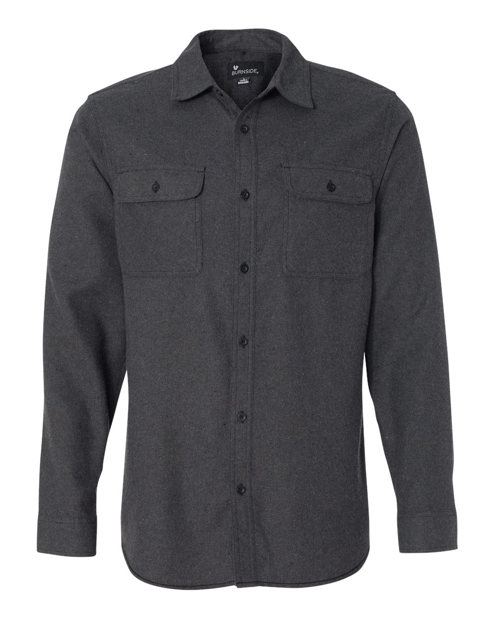 Picture of Burnside Long Sleeve Solid Fannel Shirt