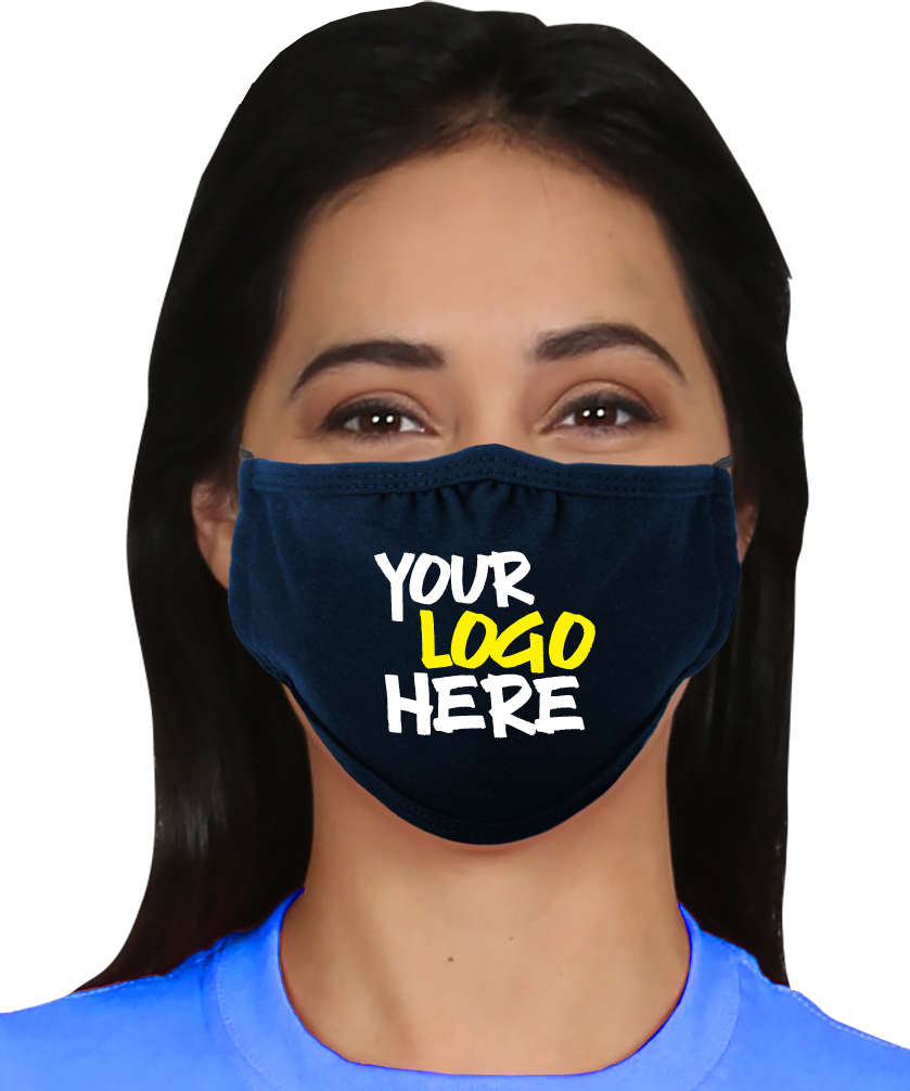 Picture of Decorated Reusable 2-Ply 100% Cotton Jersey Mask